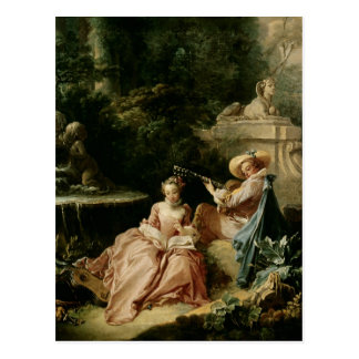 The Music Lesson, 1749 Postcard