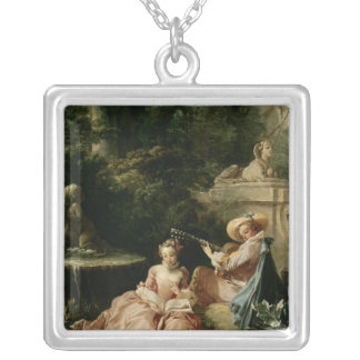 The Music Lesson, 1749 Silver Plated Necklace