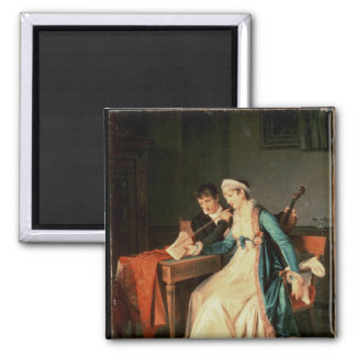 The Music Lesson, 1790 2 Inch Square Magnet