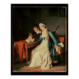 The Music Lesson, 1790 Print