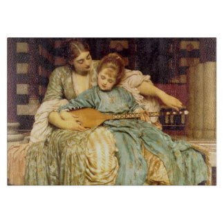 The Music Lesson by Frederic Leighton Cutting Board