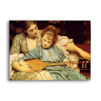 The Music Lesson by Frederic Leighton Envelopes