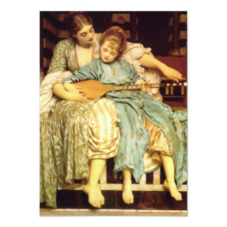 The Music Lesson by Frederic Leighton 4.5x6.25 Paper Invitation Card