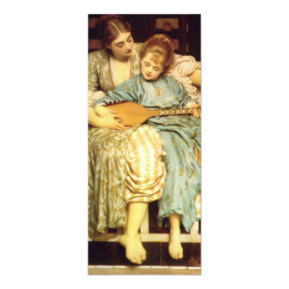 The Music Lesson by Frederic Leighton 4x9.25 Paper Invitation Card