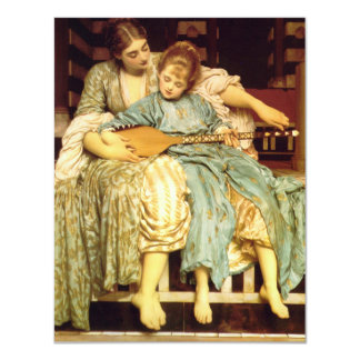 The Music Lesson by Frederic Leighton 4.25x5.5 Paper Invitation Card