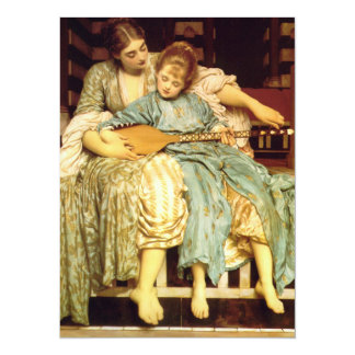 The Music Lesson by Frederic Leighton 5.5x7.5 Paper Invitation Card