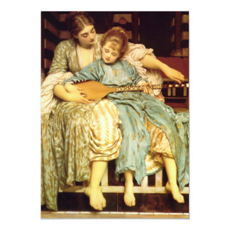 The Music Lesson by Frederic Leighton 5x7 Paper Invitation Card