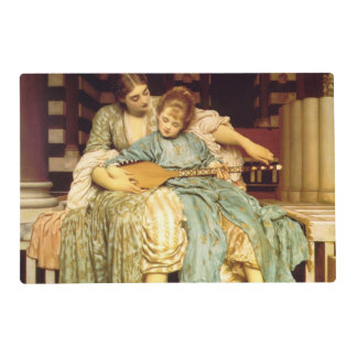 The Music Lesson by Frederic Leighton Laminated Place Mat