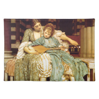The Music Lesson by Frederic Leighton Placemats