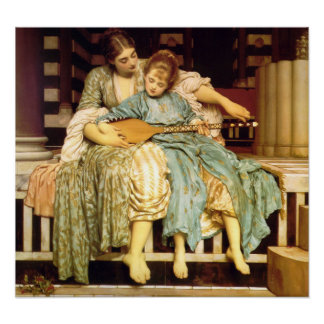The Music Lesson by Frederic Leighton Poster