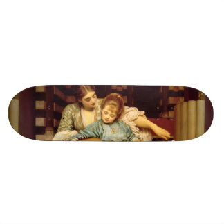 The Music Lesson by Frederic Leighton Skateboard