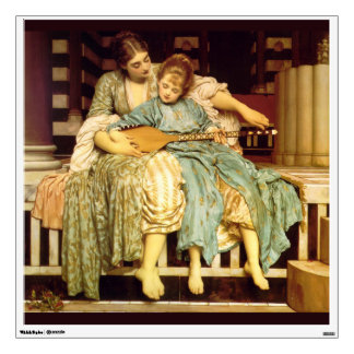 The Music Lesson by Frederic Leighton Wall Stickers