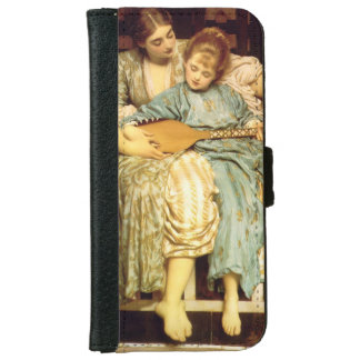 The Music Lesson by Frederic Leighton Wallet Phone Case For iPhone 6/6s
