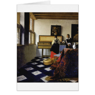 The Music Lesson by Johannes Vermeer Greeting Card