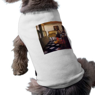 The music lesson by Johannes Vermeer Pet Clothing
