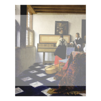 The Music Lesson by Johannes Vermeer Personalized Flyer