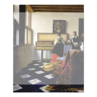 The Music Lesson by Johannes Vermeer Flyer