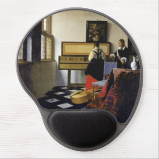 The Music Lesson by Johannes Vermeer Gel Mouse Pad
