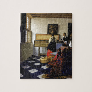 The Music Lesson by Johannes Vermeer Jigsaw Puzzle