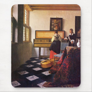 The music lesson by Johannes Vermeer Mouse Pad