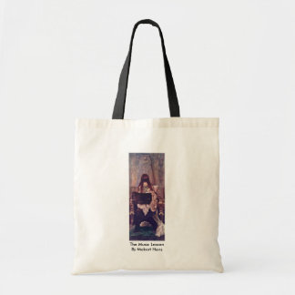 The Music Lesson By Makart Hans Canvas Bag