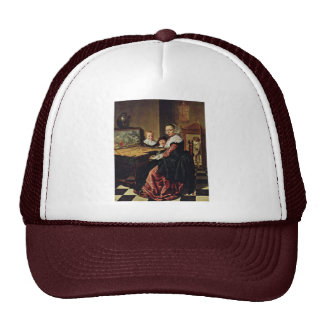 The Music Lesson By Molenaer Jan Miense Best Qual Trucker Hats