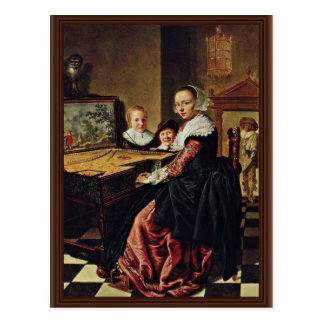 The Music Lesson By Molenaer Jan Miense (Best Qual Postcard