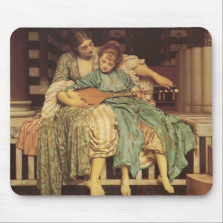 The Music Lesson - Lord Frederic Leighton Mousepad