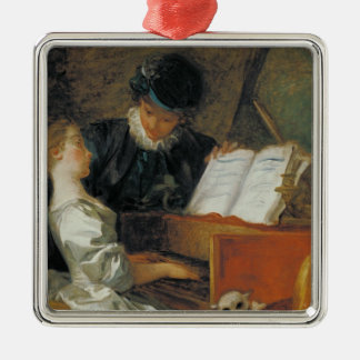 The Music Lesson Metal Ornament