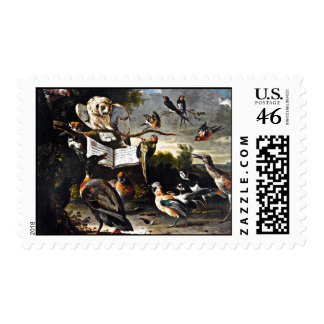 The Music Lesson Postage Stamp