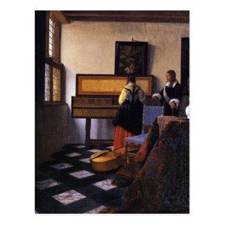 The Music Lesson Postcard