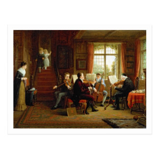 The Music Lesson Postcard