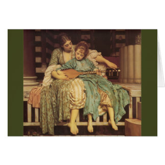 The Music Lesson Pre-Raphaelite Art Card