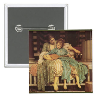 The Music Lesson Pre-Raphaelite Art Pinback Button