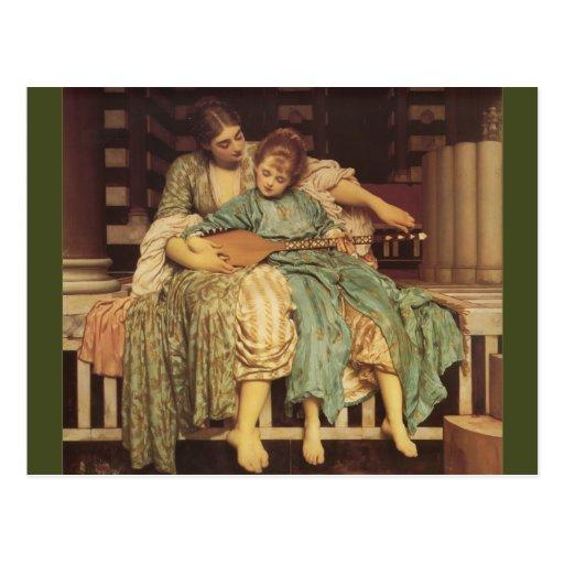 The Music Lesson Pre-Raphaelite Art Postcard