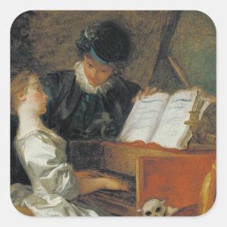 The Music Lesson Square Sticker