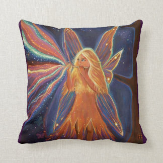 The Music Of The Faeries - Fairy Art Pillow