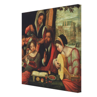 The Music Party Canvas Print