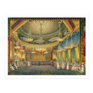 The Music Room, from 'Views of the Royal Pavilion, Postcard