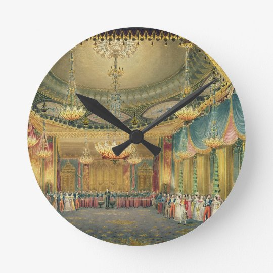 The Music Room, from 'Views of the Royal Pavilion, Round Clock