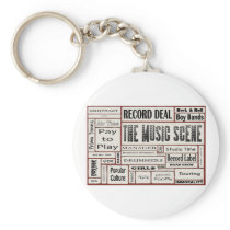 The Music Scene Keychain