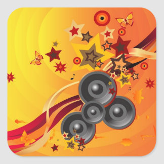 The Music Square Sticker
