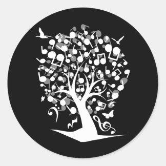 The_Music_Tree Classic Round Sticker