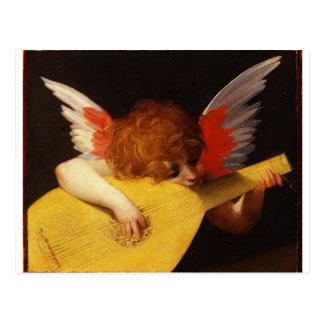 The Musical Angel - Vintage Christmas Postcard