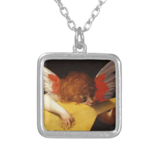 The Musical Angel - Vintage Christmas Silver Plated Necklace
