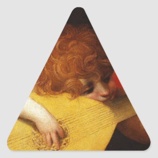 The Musical Angel - Vintage Christmas Triangle Sticker