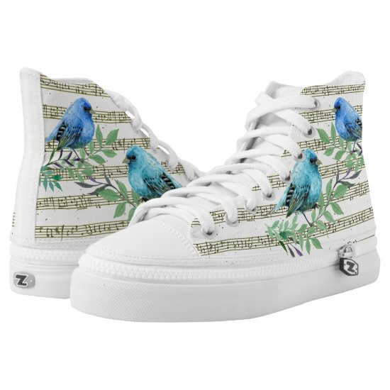 The musical palette of birds High-Top sneakers