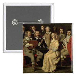 The Musical Reunion, 1642 Button