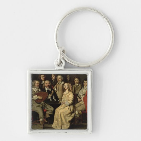 The Musical Reunion, 1642 Keychain