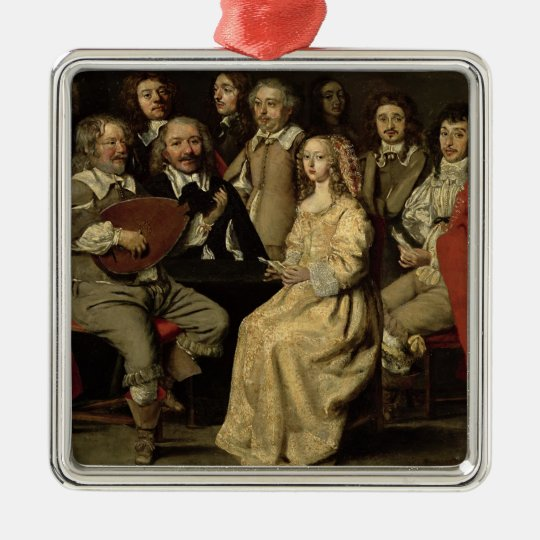 The Musical Reunion, 1642 Metal Ornament